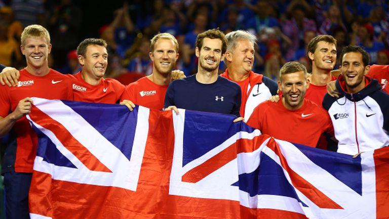 """Мъри изведе Великобритания до финала на """"Купа Дейвис"""""""