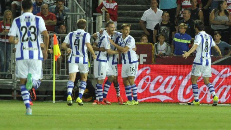 Агирече донесе първа победа на Реал Сосиедад (видео)