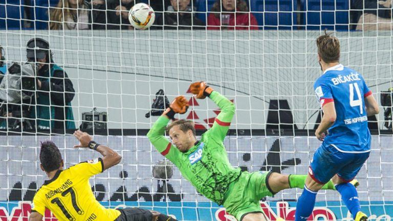 Дортмунд излезе от пътя въпреки рекорда на Обамеянг (видео)
