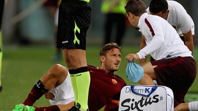Рома губи Тоти за месец, Джеко аут между 3 и 4 седмици