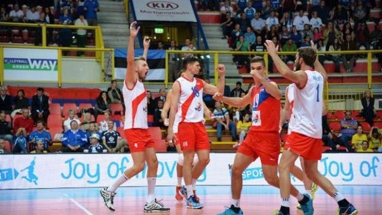 Сърбия на 1/4-финал на Евроволей 2015 след драма над Естония