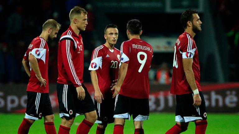 Дания иска УЕФА да изхвърли Албания от Евро 2016
