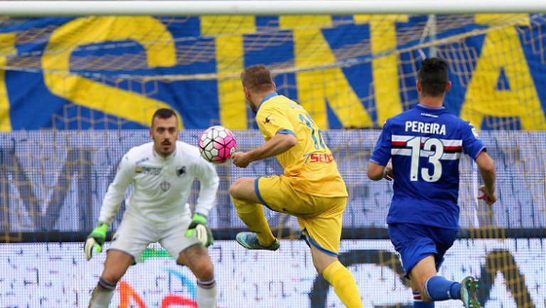 Фрозиноне удари Сампдория след два гола за една минута