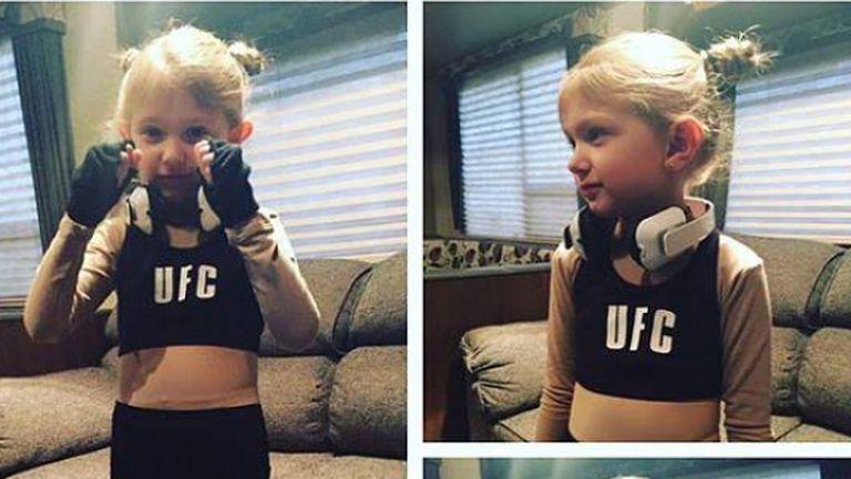 Момиченце избра костюм на Ронда Раузи за Хелоуин