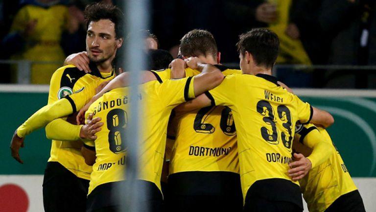 Дортмунд и Леверкузен с гръмки победи за Купата на Германия (видео)