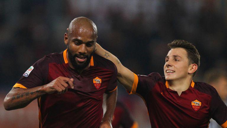 Два бързи гола укрепиха Рома на върха (видео)