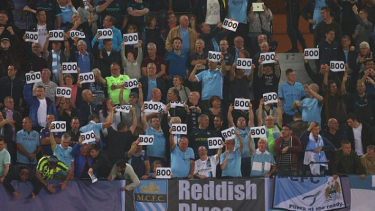 Феновете на Манчестър Сити с оригинален протест срещу УЕФА