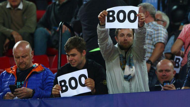 УЕФА пощади Ман Сити за освиркване на химна на ШЛ