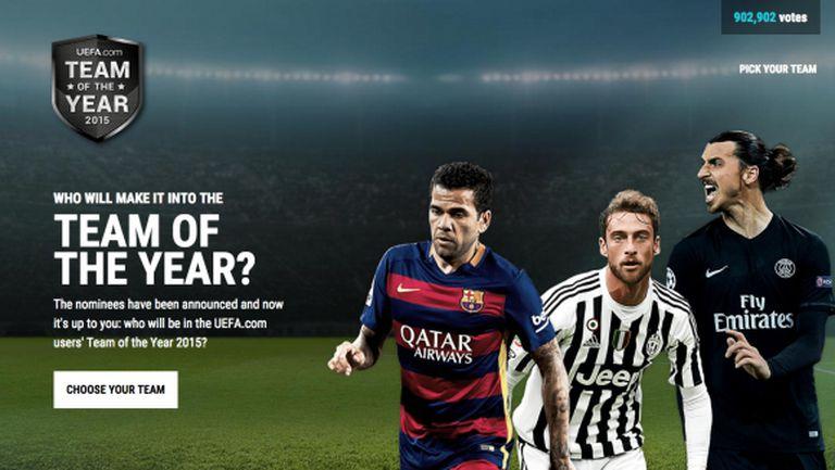 Изберете идеалните 11 на УЕФА за 2015 г.