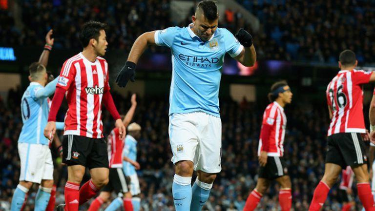 Харт и Агуеро се връщат за Манчестър Сити срещу Стоук