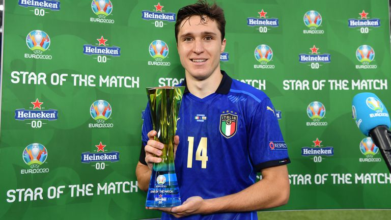 Крило на Ювентус стана Играч на мача между Италия и Уелс