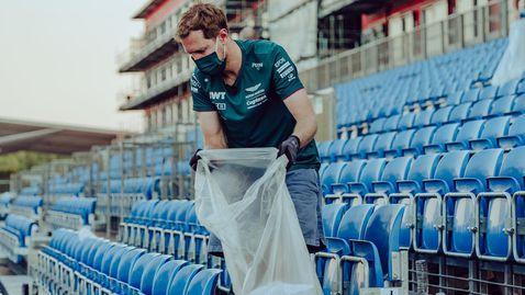 """След провала в Гран При на Великобритания Фетел чисти пистата """"Силвърстоун"""""""