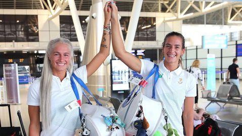 Сестри Стоеви и Линда Зечири вече тренират в основната зала в Токио