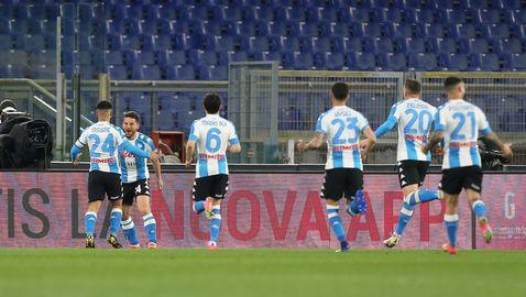 Мертенс не пожали Рома, Наполи е близо до топ 4 (видео)