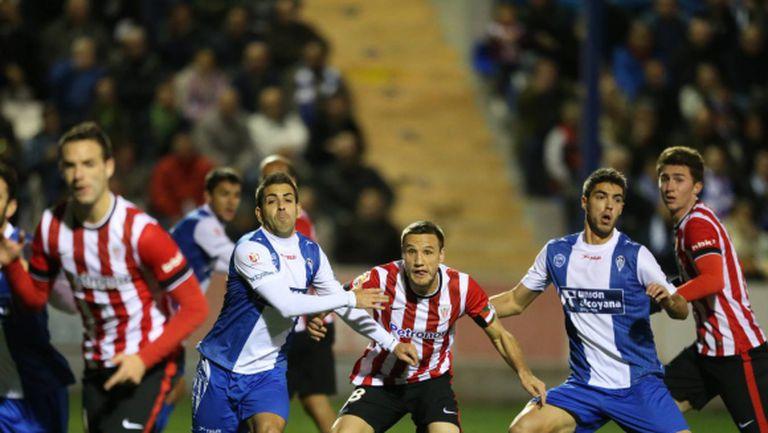 Атлетик Билбао се измъкна в 90-ата минута