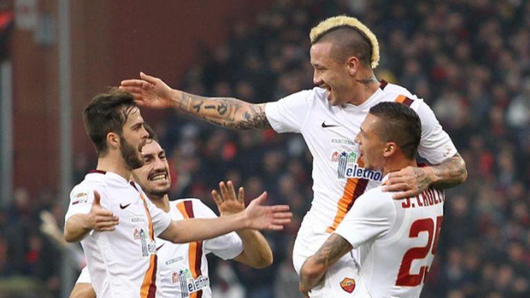 Нервна победа доближи Рома на точка до Ювентус (видео)