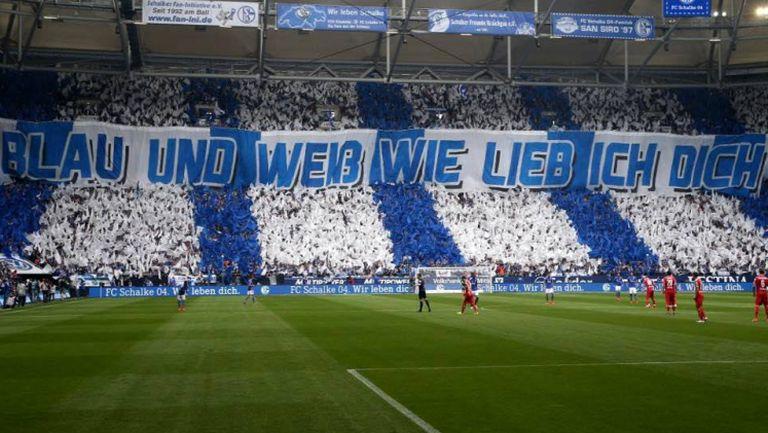 """Синьо-бели, ние ви обичаме!"" - Хореографията на Шалке 04 срещу Щутгарт"