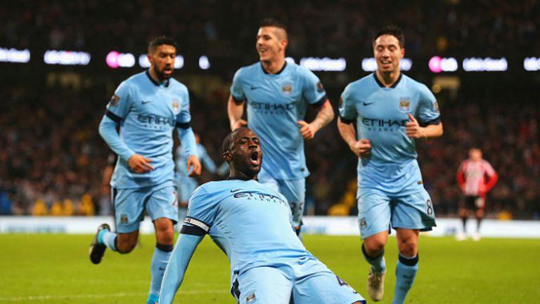 """Манчестър Сити диша във врата на Челси след голово полувреме на """"Етихад"""" (видео)"""