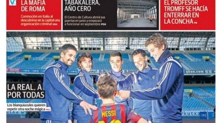 Вестник със забавна провокация към Барселона