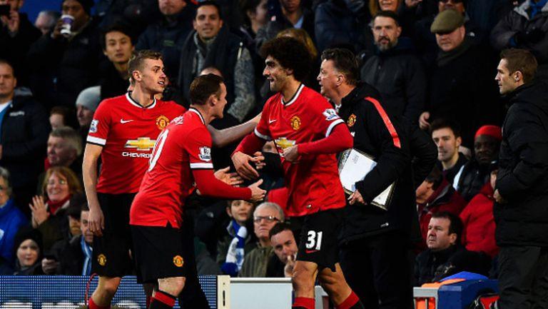 Манчестър Юнайтед изскочи на трето място въпреки пропуските на Фалкао (видео)