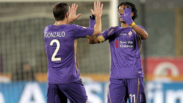 Фиорентина без проблем на 1/4-финал за Купата на Италия (видео)