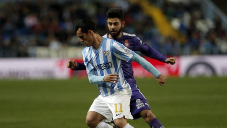 Дузпа и червен картон не помогнаха на Малага срещу Еспаньол (видео)