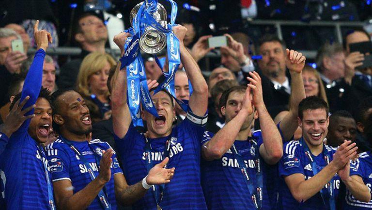 Челси надигра Тотнъм и триумфира с първа титла за сезона (видео)