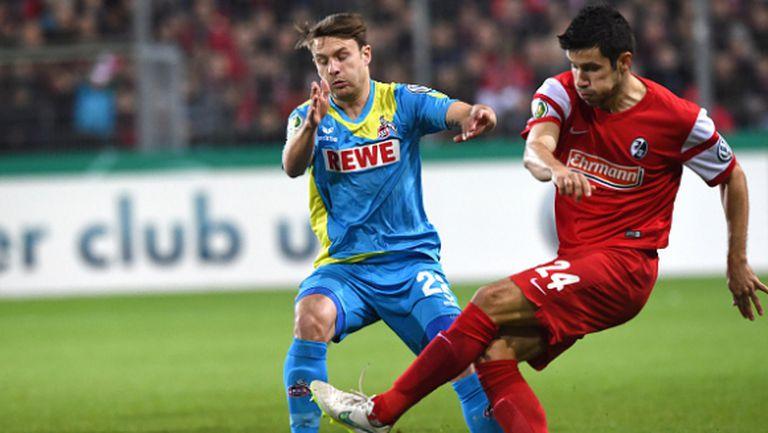 Фрайбург се справи с Кьолн за две минути (видео)