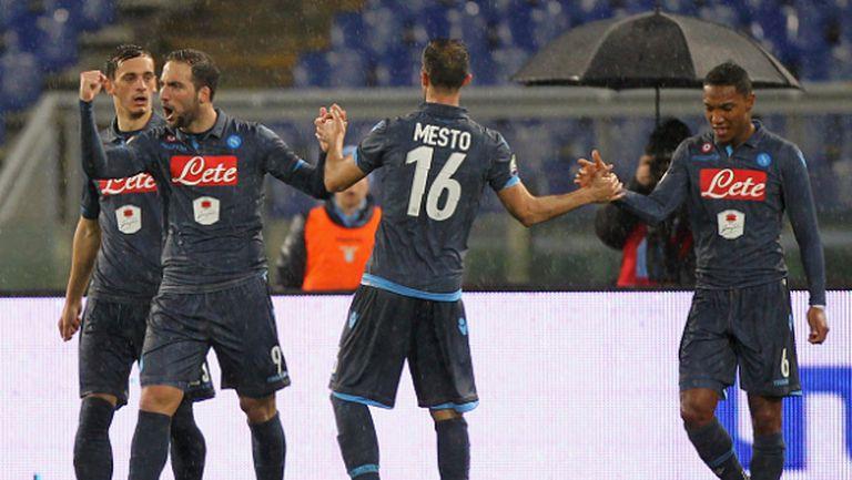Лацио и  Наполи оставиха всичко за реванша