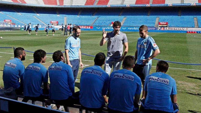Диего Коща се появи на тренировка на Атлетико (видео)