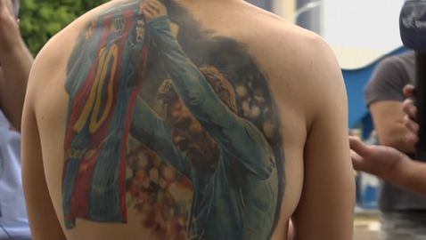 Меси подписа татуировка на бразилски фен