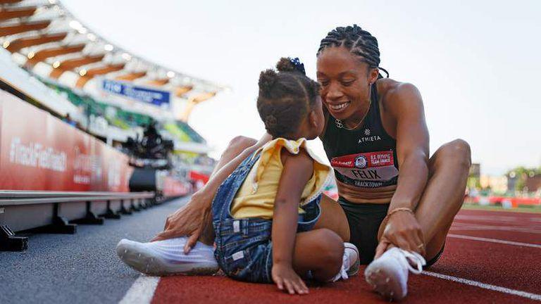 35-годишната Алисън Филикс  ще участва на пета поредна олимпиада и първа като майка