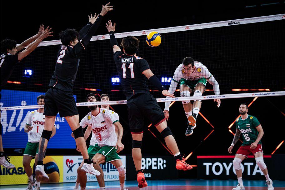 Лига на нациите: България - Япония 0:3