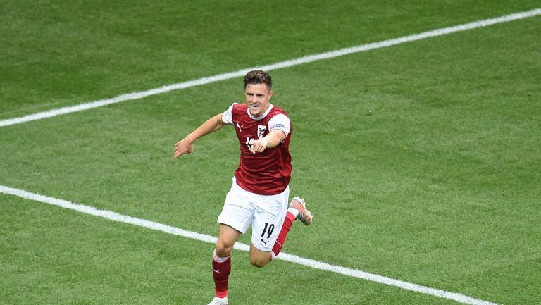 Украйна 0:1 Австрия, Баумгартнер откри резултата (гледайте тук)