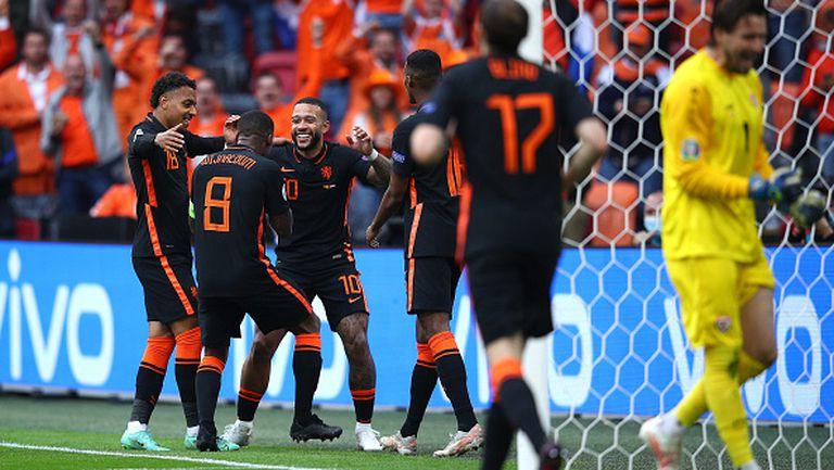 Вайналдум удвои за Нидерландия минути след началото на второто полувреме срещу Северна Македония