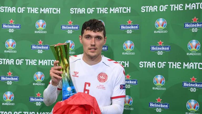 Андреас Кристенсен беше избран за играч на мача Русия - Дания