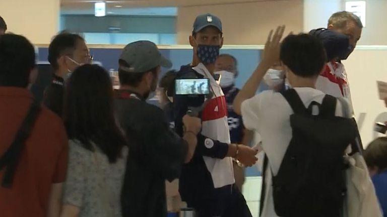 Новак Джокович пристигна в Токио