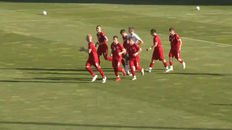 Делибашич откри резултата за юношите на Сърбия срещу България