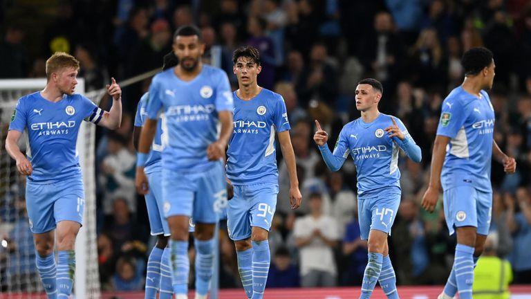 Изненадващо начало раздвижи Ман Сити по пътя към 1/8-финалите на Купата на лигата