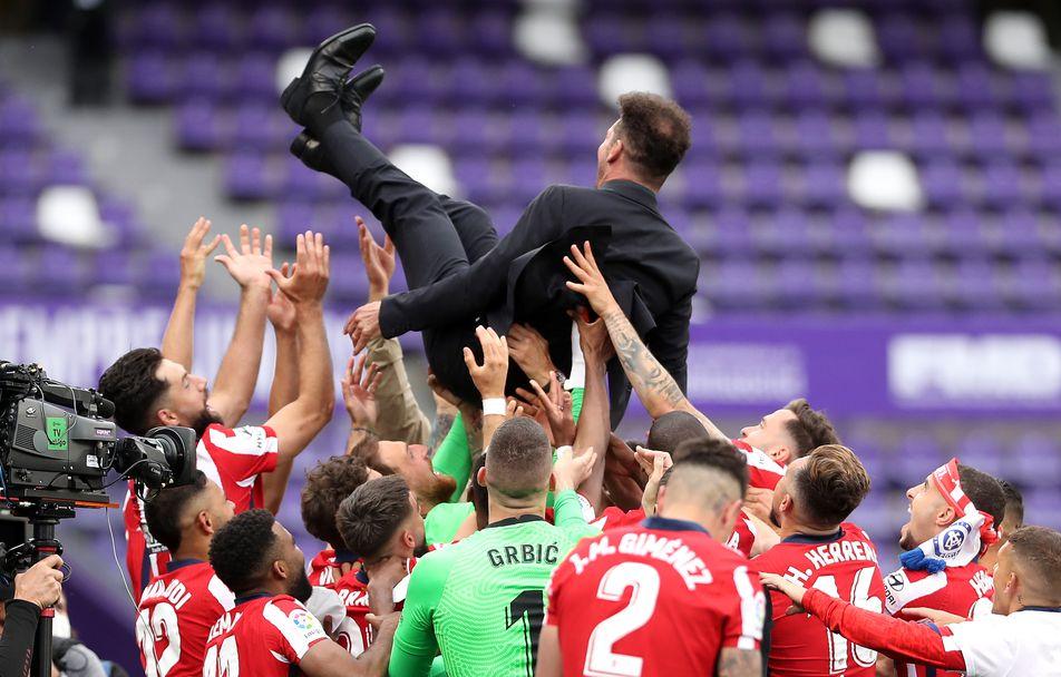 Атлетико Мадрид направи обрат срещу Валядолид и триумфира с титлата в Ла Лига