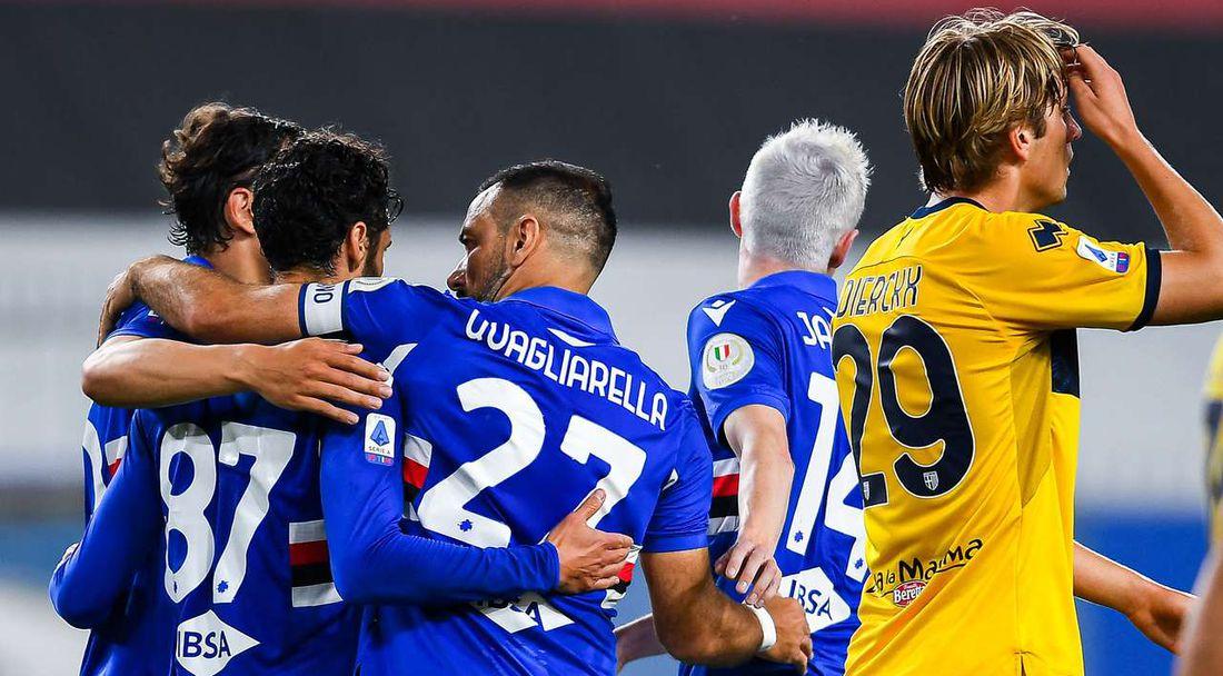 Сампдория изпрати с 3:0 Парма в Серия Б