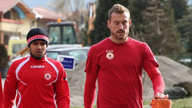 Четирима футболисти не тренираха с ЦСКА днес