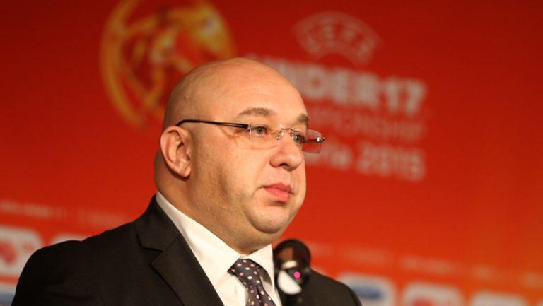 Спортният министър: България може да кандидатства и за футболни форуми от по-сериозен ранг