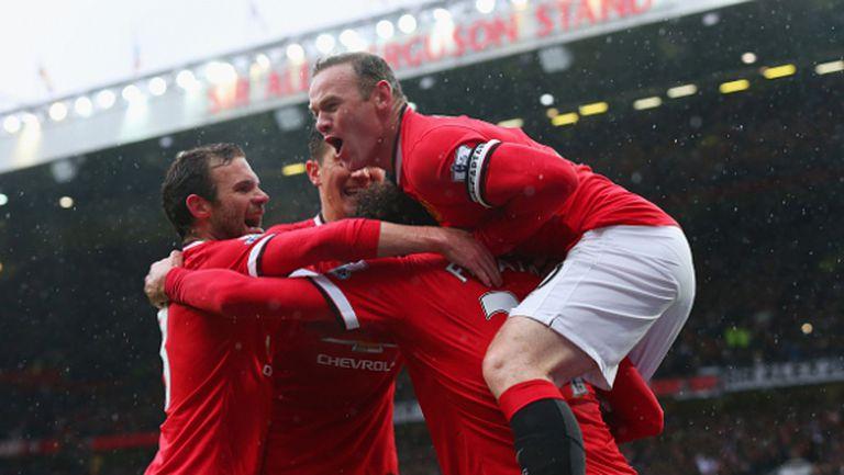 Юнайтед отново е господарят на Манчестър, шампионите вече треперят за мястото си в топ 4 (видео + галерия)