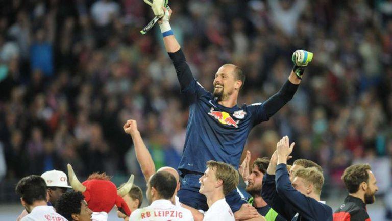 Вратарят на РБ Лайпциг влезе в историята на германския футбол (видео)