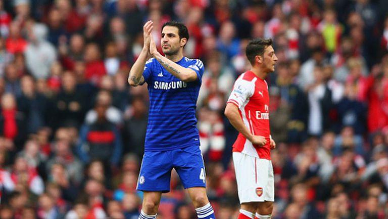 Фабрегас: Радвам се, че мачът с Арсенал завърши наравно