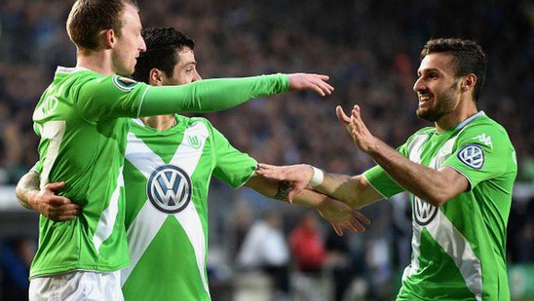 Волфсбург на финал срещу Борусия (Д) след разгром (видео)