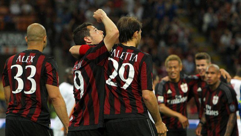 Милан най-после се пробуди и наказа Рома (видео+галерия)