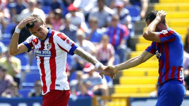 Атлетико стигна до 2:2 във Валенсия (видео)