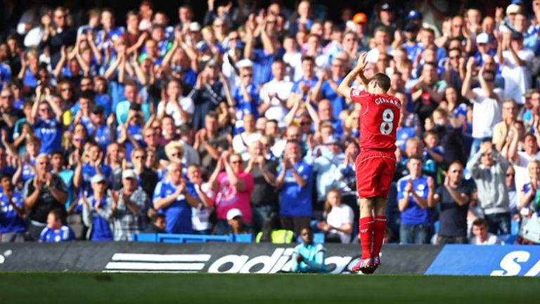 Джерард излезе на второ място по голове за Ливърпул в Премиър лийг